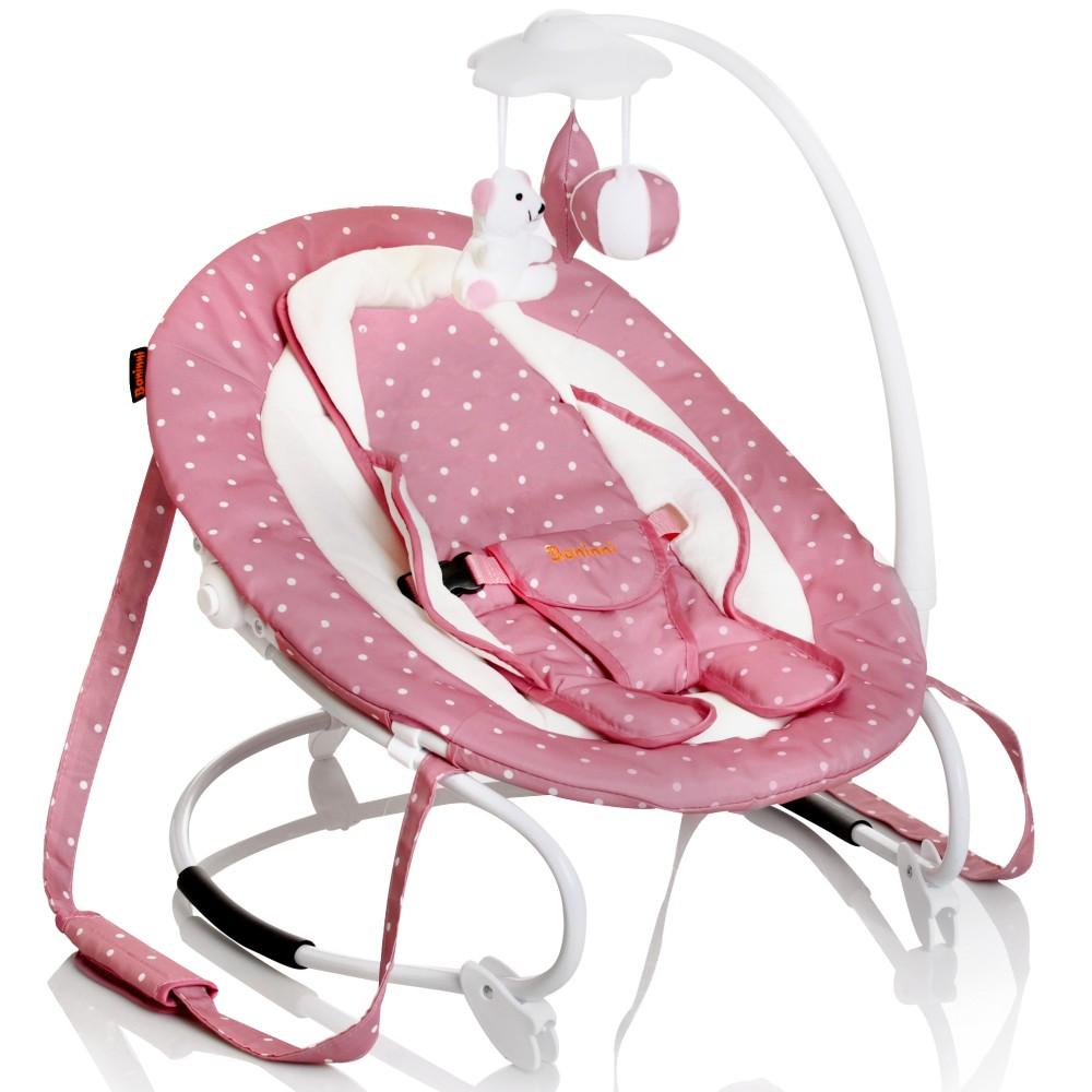 baninni babyschaukel babywippe mit mobile rosa m dchen tragegurte babyliege neu ebay. Black Bedroom Furniture Sets. Home Design Ideas