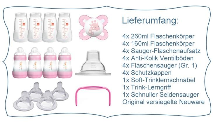 MAM: Babyflaschen Starterset mit Zubehör