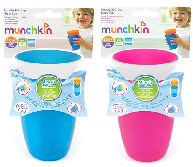 munchkin 360 kinder trinkflasche 296ml miracle trinkbecher auslaufsicher lern. Black Bedroom Furniture Sets. Home Design Ideas