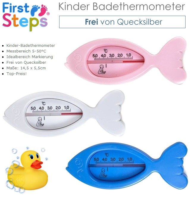 First Steps Kinder Badethermometer