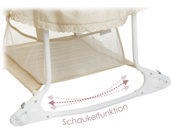 Little world babywiege stubenwagen babyschaukel beige