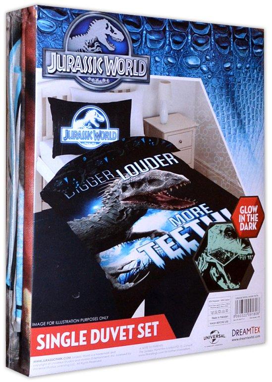 Dreamtex Jurassic World Kinder Bettwäsche Leuchtet Im Dunkeln