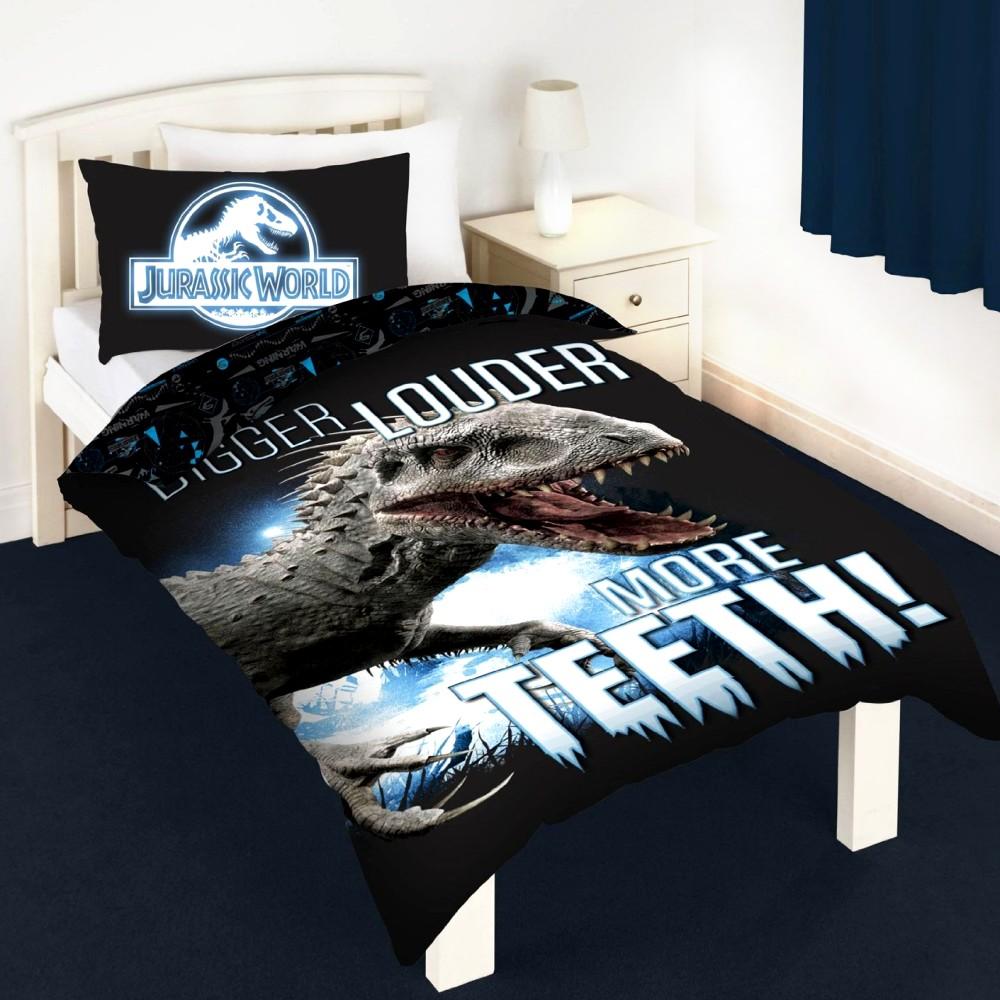 dreamtex jurassic world kinder bettw sche leuchtet im dunkeln. Black Bedroom Furniture Sets. Home Design Ideas