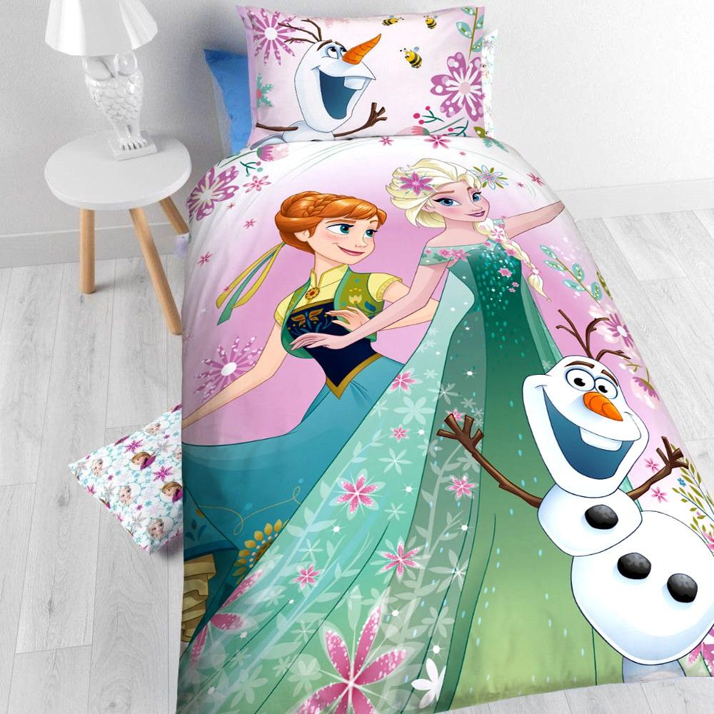 Disney Kinderbettwäsche Die Eiskönigin Bettbezug Kissenbezug 2131