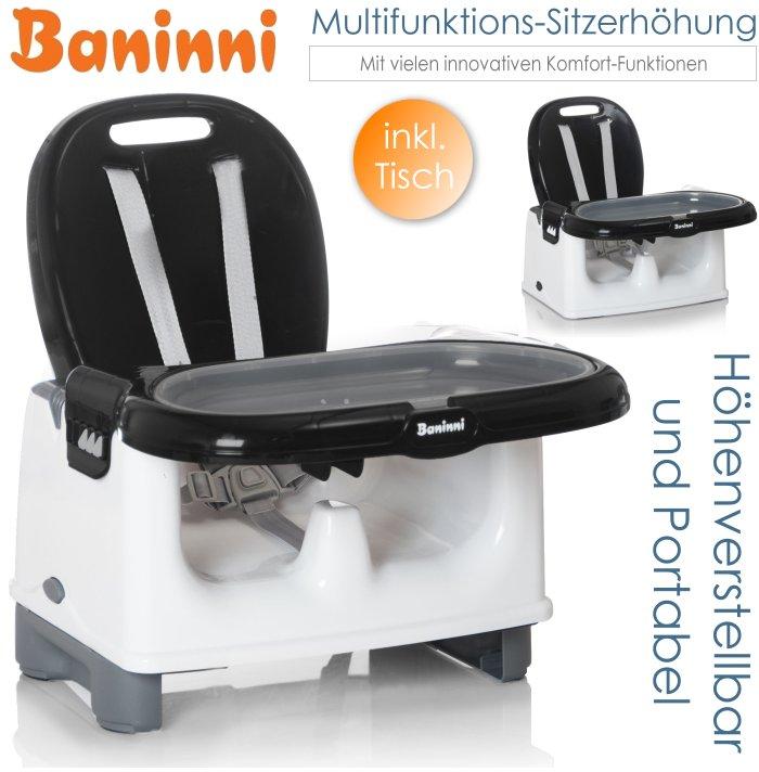 baninni baby multifunktions sitzerh hung mit tisch schwarz. Black Bedroom Furniture Sets. Home Design Ideas