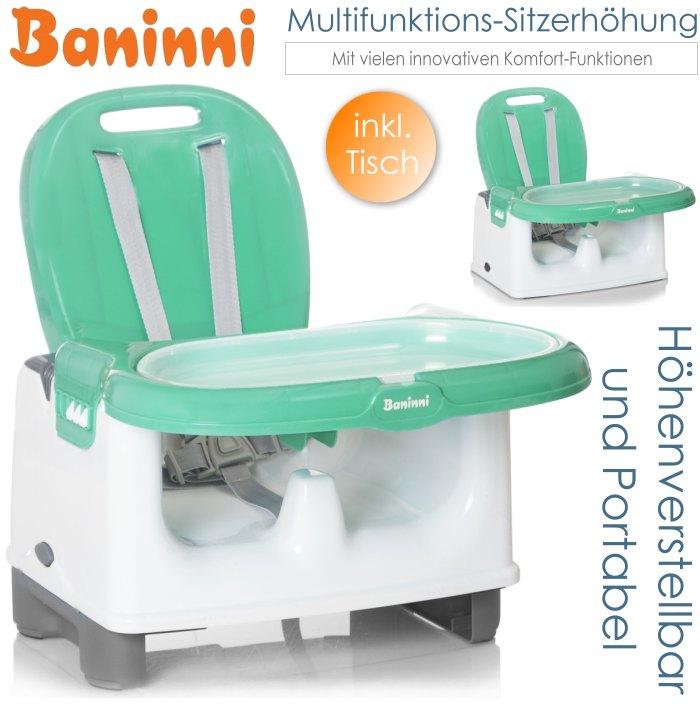 baninni baby multifunktions sitzerh hung mit tisch gr n. Black Bedroom Furniture Sets. Home Design Ideas