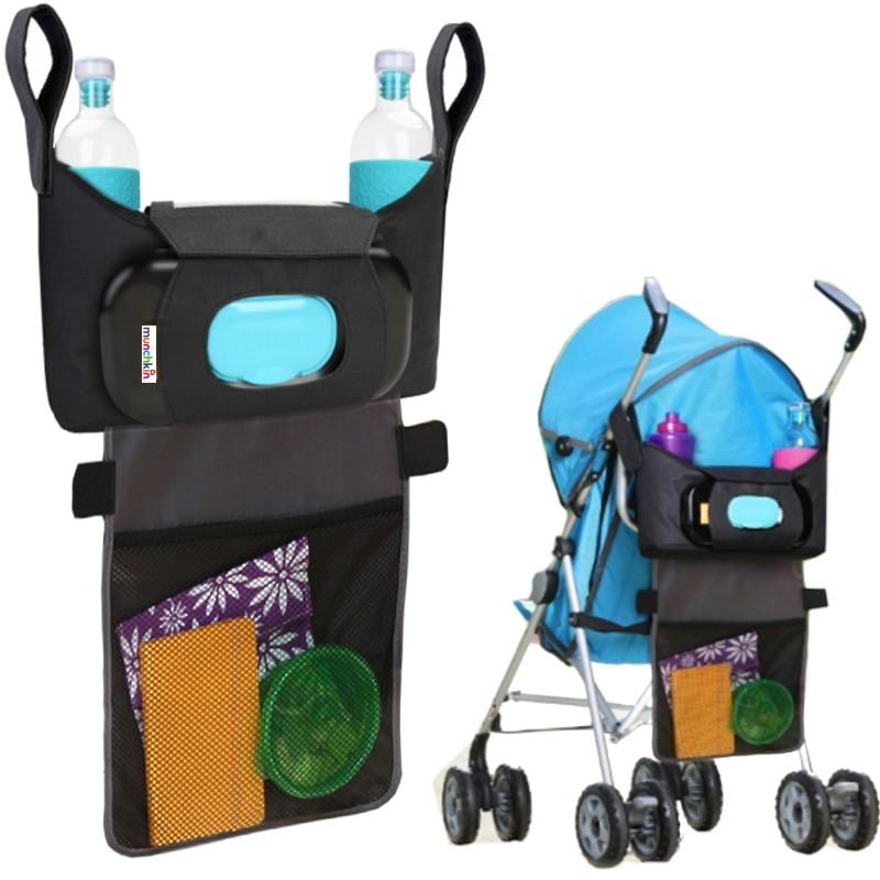 buggy kinderwagen tasche organizer plus munchkin handyfach. Black Bedroom Furniture Sets. Home Design Ideas