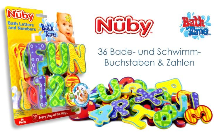 Nuby Badebuchstaben und Zahlen