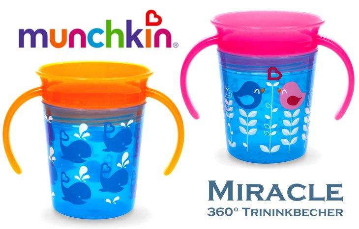 munchkin miracle 360 trinkbecher mit griff 177ml mit dekor. Black Bedroom Furniture Sets. Home Design Ideas