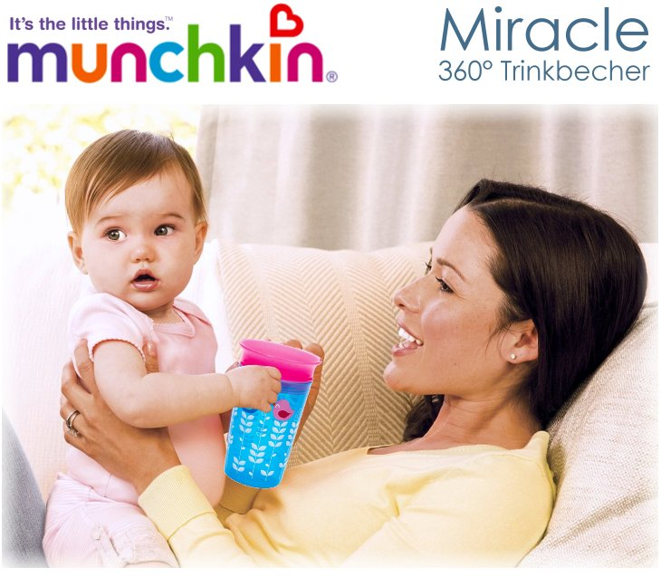 Munchkin Miracle Deco 360° Trinkbecher