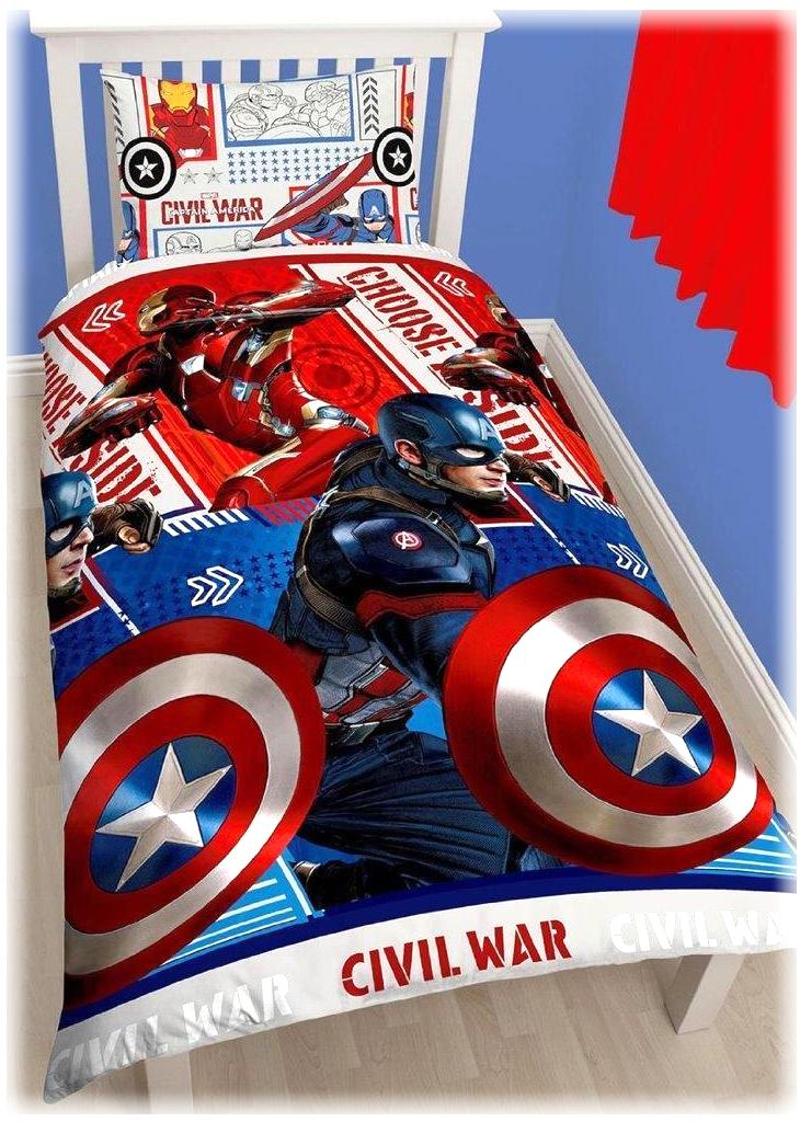 Marvel Kinder Bettwäsche First Avenger Civil War Captain America