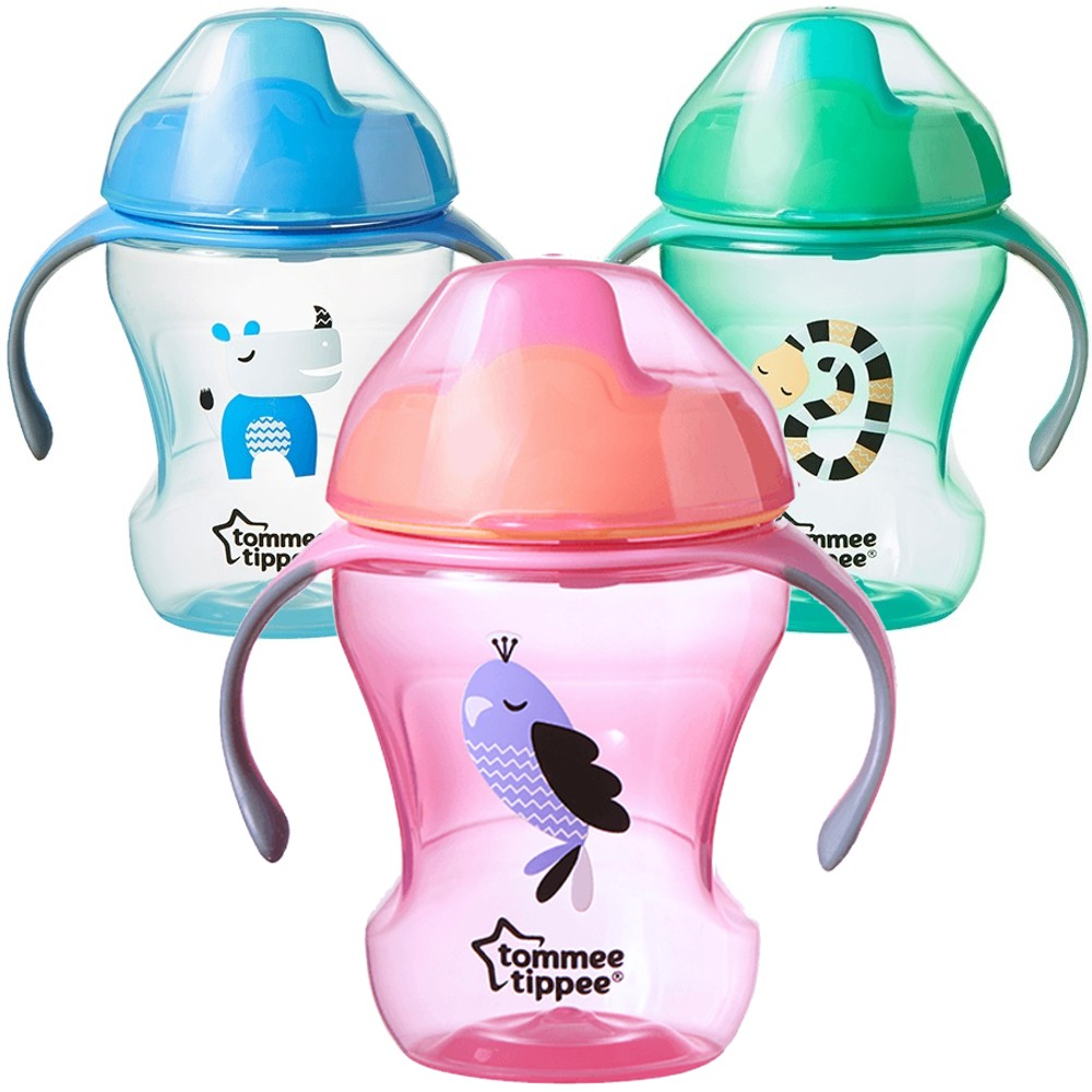 tommee tippee baby lern flasche mit griff kionder sippee cup 230ml soft sauger ebay. Black Bedroom Furniture Sets. Home Design Ideas