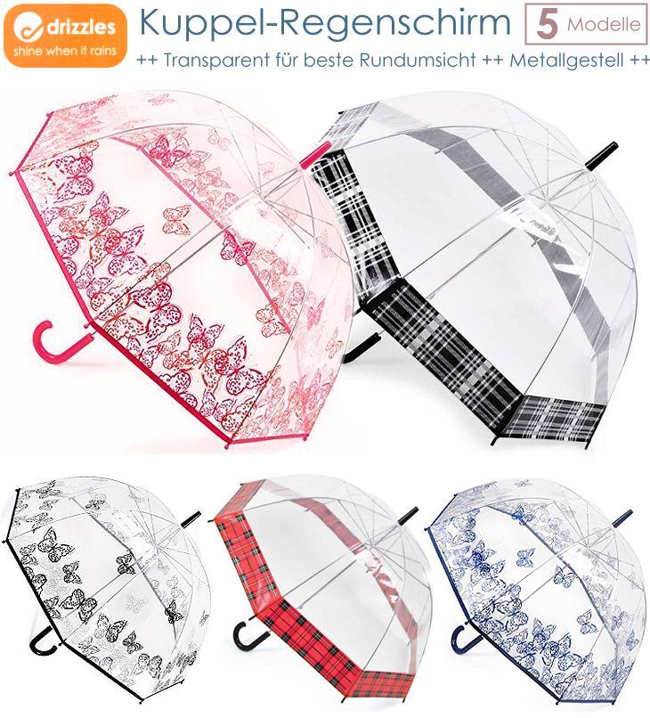 Drizzles Kuppel Regenschirm transparent