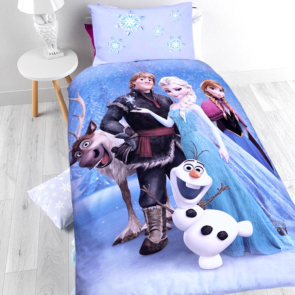 die eisk nigin kinder bettw sche baumwolle mix kissen und bett disney elsa olaf ebay. Black Bedroom Furniture Sets. Home Design Ideas