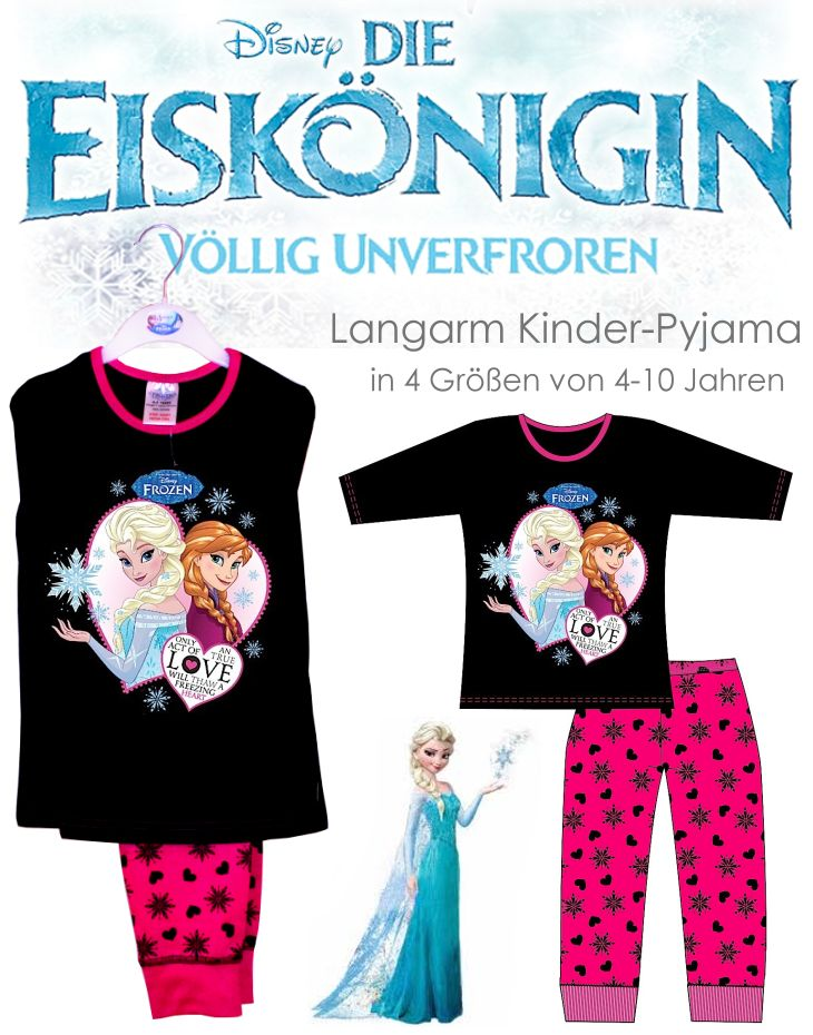 Die Eiskönigin Kinder Pyjama Set