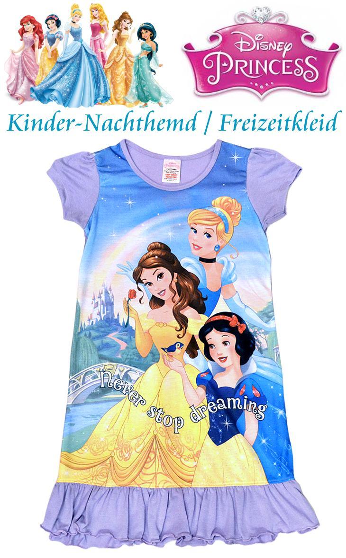Disney Prinzessinnen Kinder Nachthemd Freizeitkleid