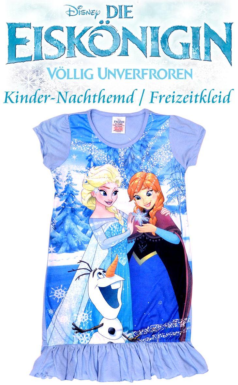 Die Eiskönigin Nachthemd Freizeitkleid mit Motiven von Anna Elsa und Olaf