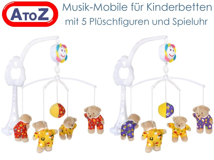 baby mobile musikmobile f r kinderbett mit spieluhr und pl sch b rchen neu ebay. Black Bedroom Furniture Sets. Home Design Ideas
