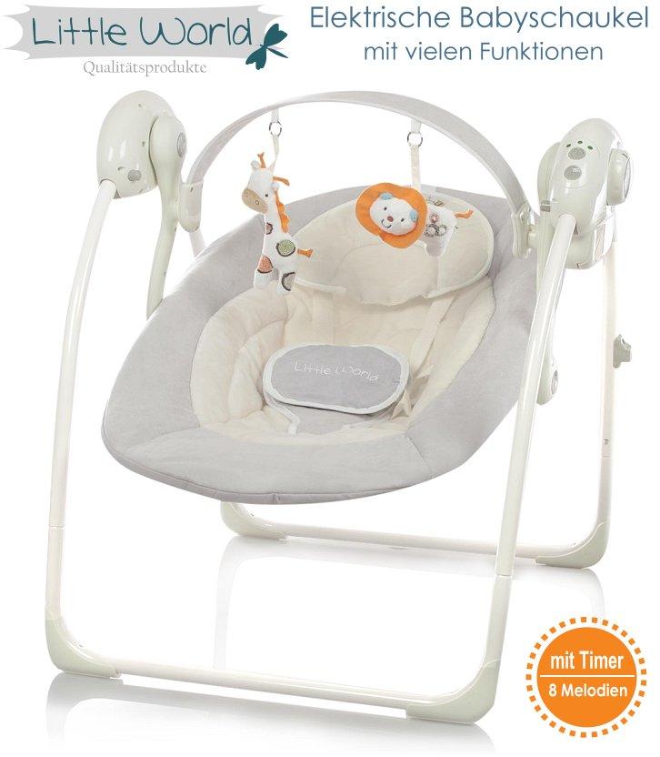 Elektrische Babyschaukel grau Automatische Baby Schaukel Dreamday ...