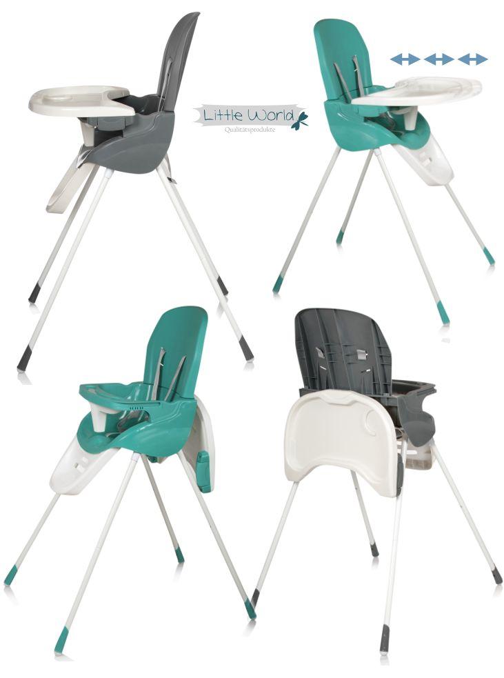 Kinder-Hochstuhl mit verstellbarer und abnehmbarer Tischplatte
