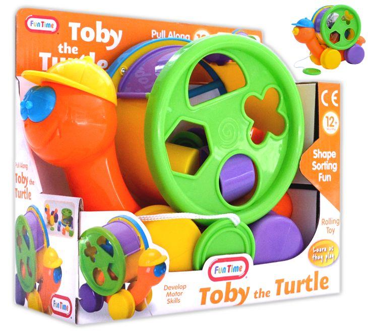 Baby und Kleinkind Nachziehspielzeug Toby the Turtle