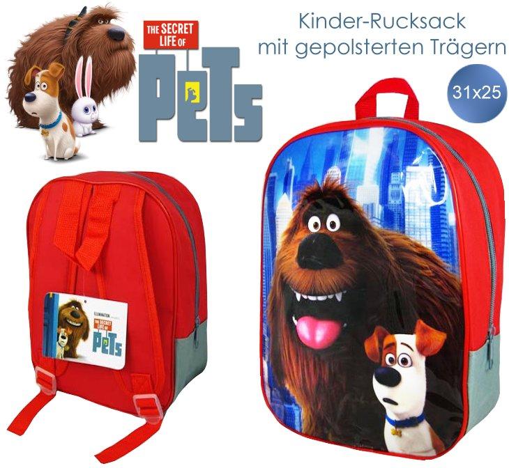 Kinder-Rucksack mit Motiven aus Pets mit Max und Duke