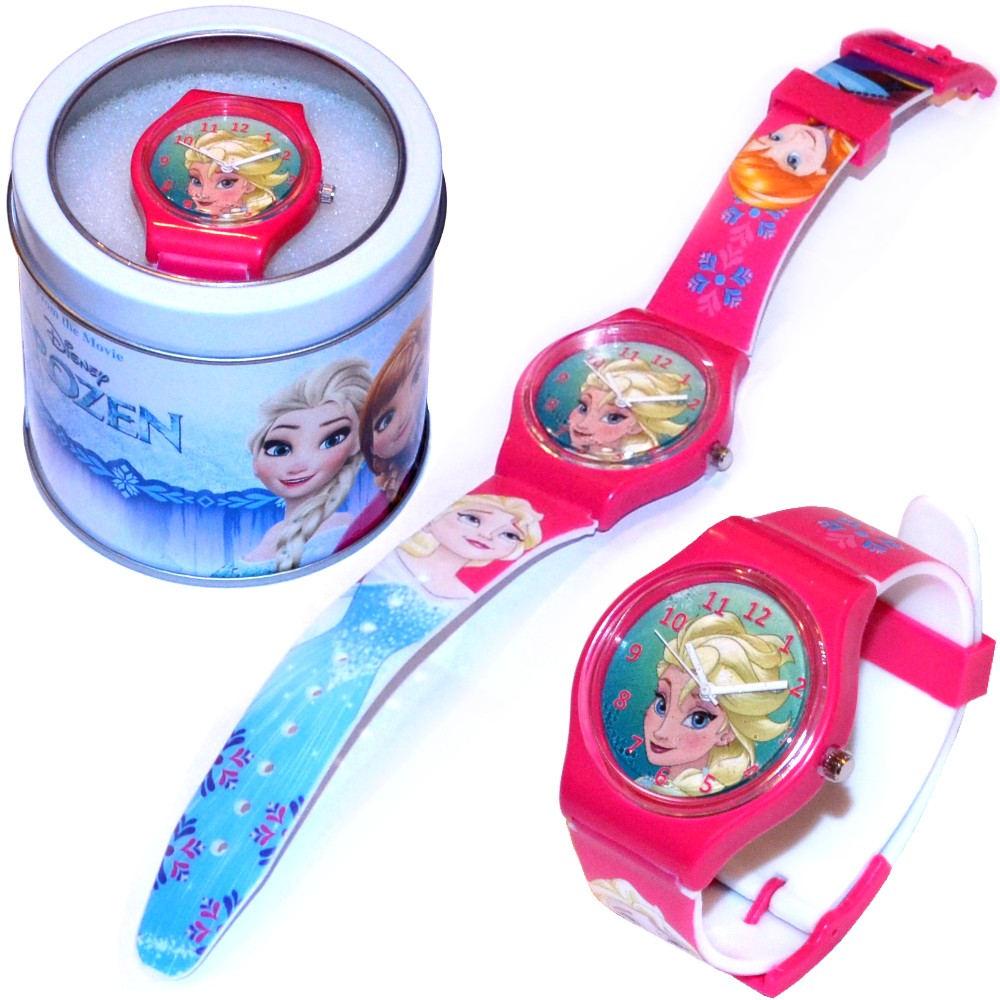 Disney-Kinder-Armbanduhr-mit-Metallbox-Die-Eiskoenigin-Spiderman-Minnie-Maus-Pets
