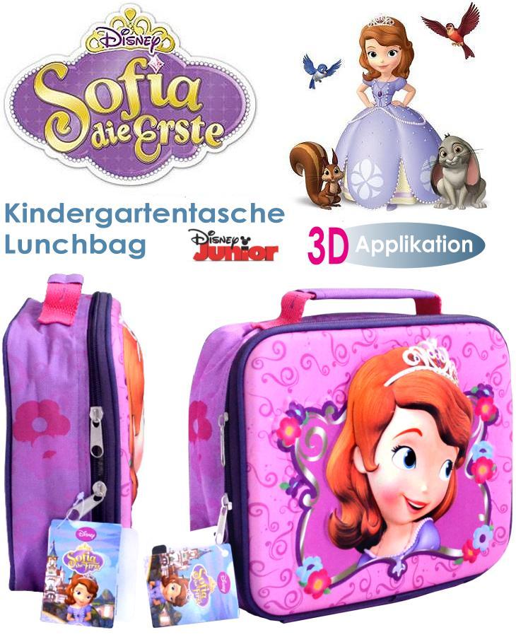 3D Kindergartentasche Kinder Lunchbag Sofia die Erste