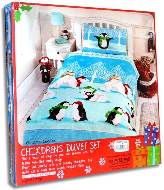 Rapport Home Kinder Bettwäsche Weihnachten Pinguine 7747