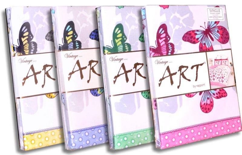 Vintage Art Bettwäsche Schmetterling-Design