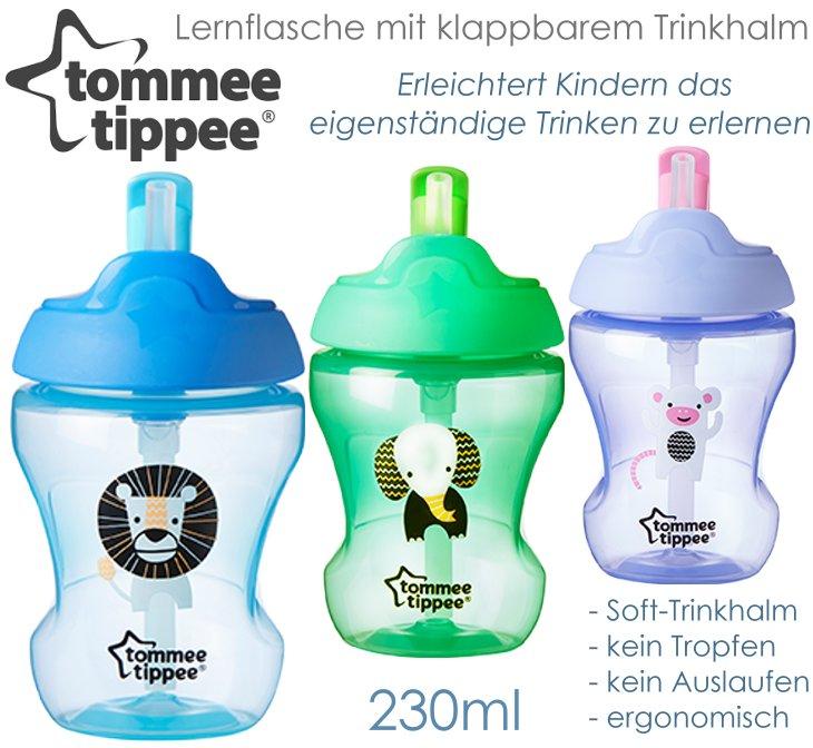 Tommee Tippee Straw Cup Lernflasche mit Trinkhalm
