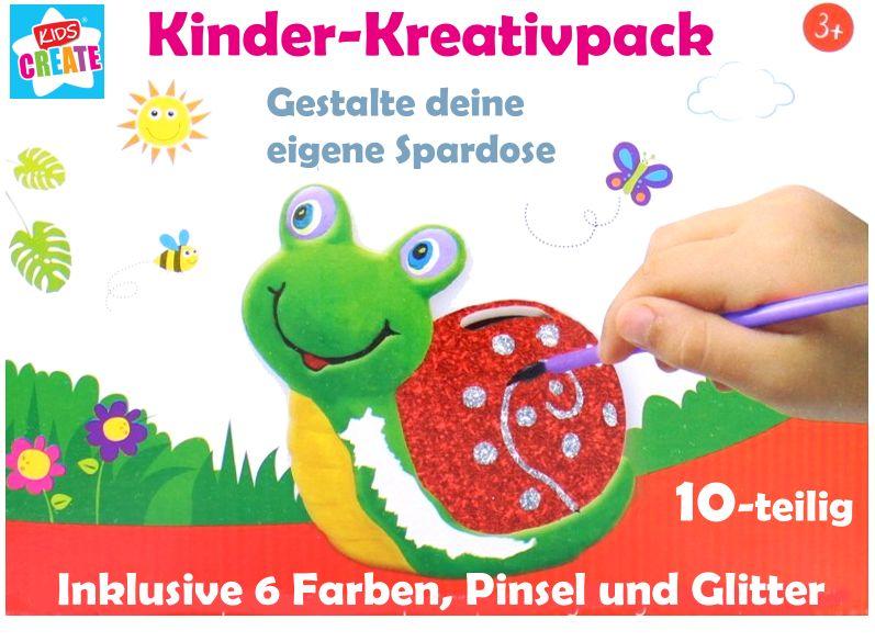Kids Create bemalbare Spardose inklusive Farbutensilien