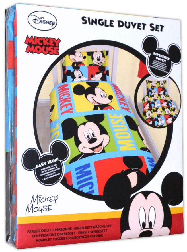 disney kinder bettw sche micky maus mickey mouse mikrofaser garnitur wunderhaus ebay. Black Bedroom Furniture Sets. Home Design Ideas
