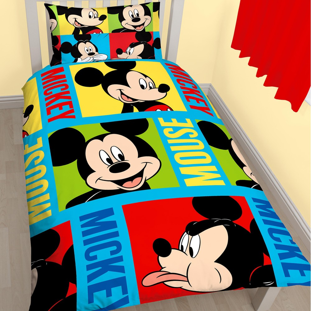 disney kinder bettw sche micky maus mickey mouse mikrofaser garnitur wunderhaus ebay. Black Bedroom Furniture Sets. Home Design Ideas