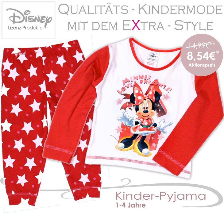 Minnie Maus Kinder Pyjama Set