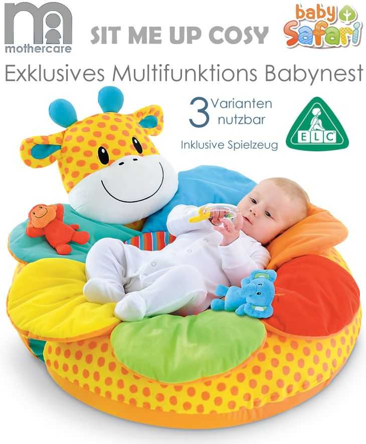 mothercare elc multifunktions baby nest baby safari giraffe. Black Bedroom Furniture Sets. Home Design Ideas