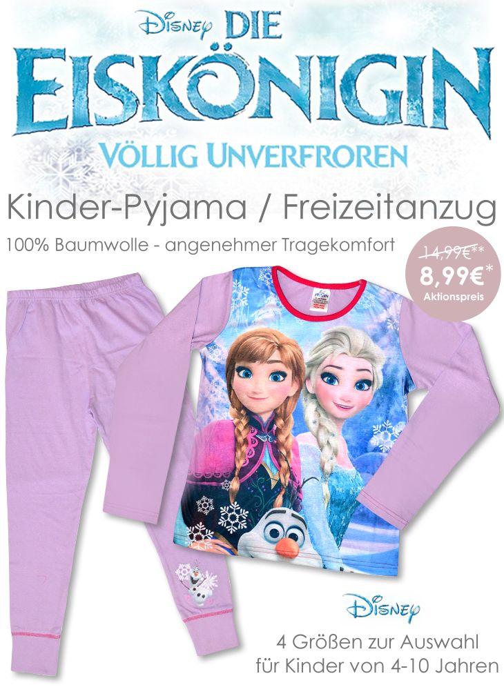 Frozen Die Eiskönigin Kinder Pyjama Set
