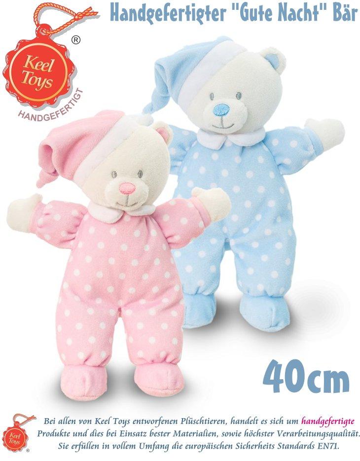 Keel Toys Plüsch Teddy Gute Nacht Bär