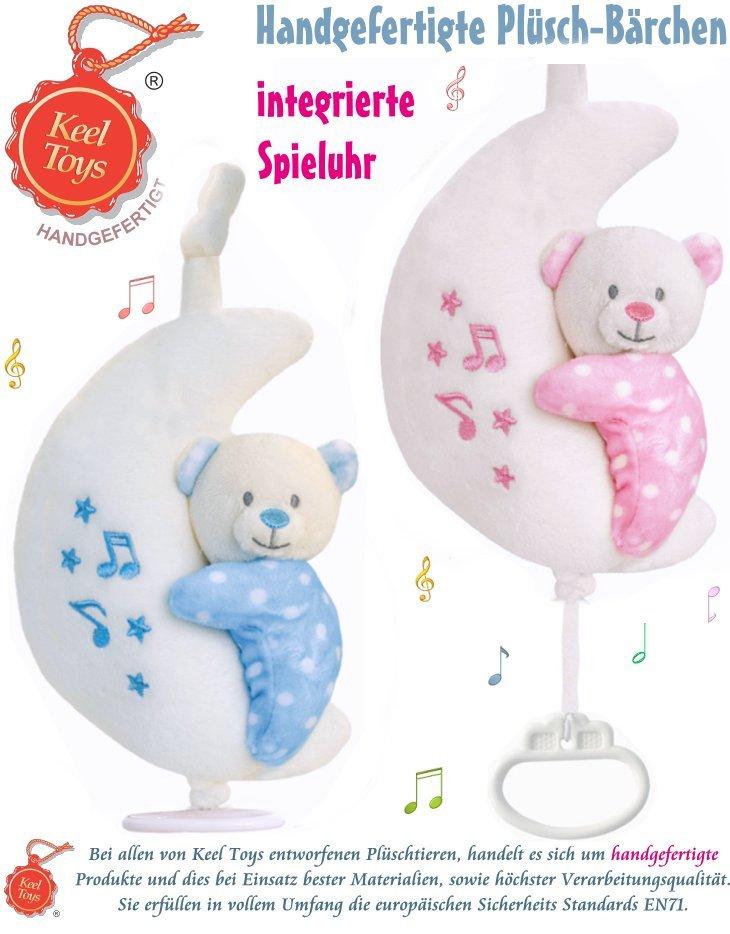 Keel Toys Plüsch Bär mit Mond und Musik Spieluhr