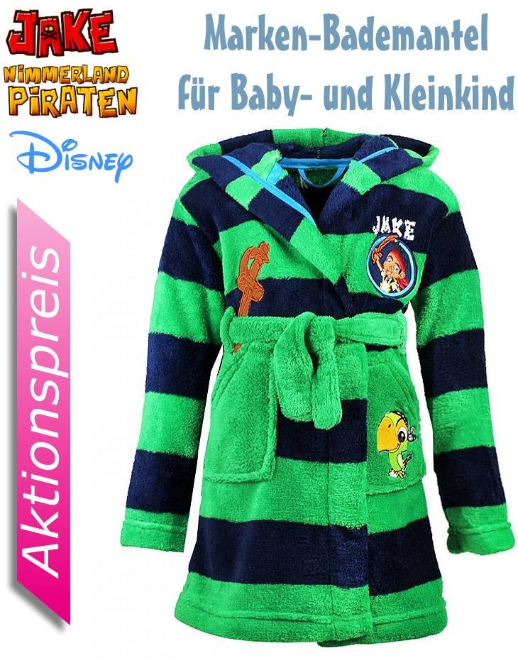 Kinder Bademantel Disney Jake und die Nimmerland Piraten