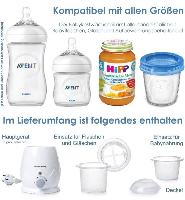Elektrischer Flaschenwärmer Babykostwärmer Canpol