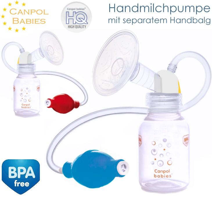 Canpol Handmilchpumpe mit Handbalg