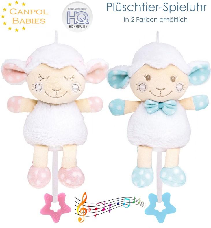 Canpol Plüschtier Schaf mit Musik-Spieluhr