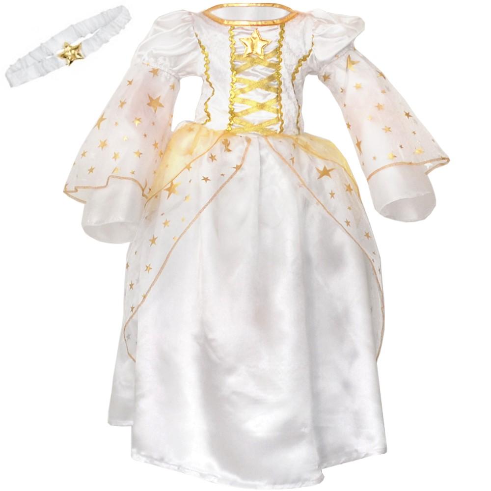 Kinder-Faschingskostuem-Karneval-Kostuem-Engel-Maedchen-Kleid-Baby-Kleinkind-weiss