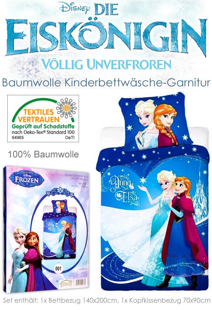 Kinder Bettwäsche Die Eiskönigin mit Motiven von Anna und Elsa