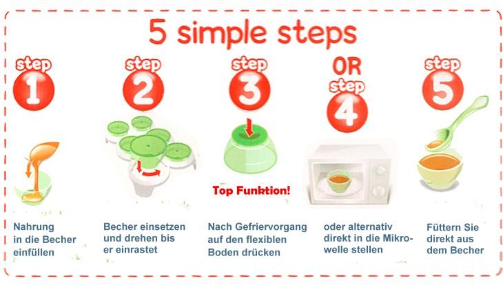 9-Loch-Aufbewahrungsbox für Babynahrung Silikonversiegelte Babymilchpulverbox