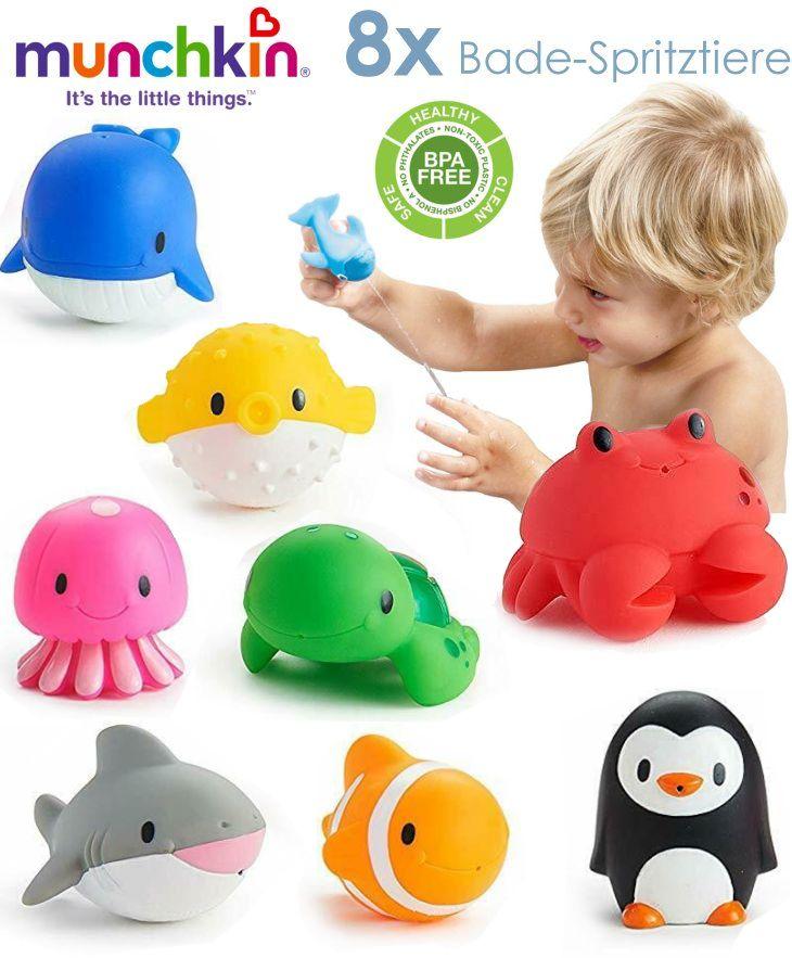 Badespielzeug für Baby Kleinkind 8 Stück Bade-Spritztiere