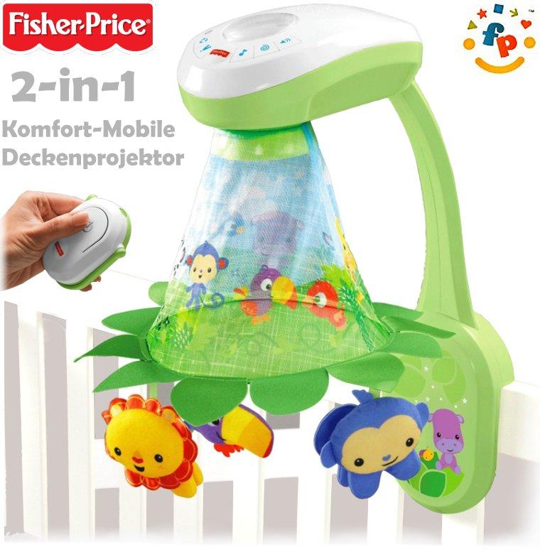 fisher price 2in1 rainforest mobile mit projektor dfp09. Black Bedroom Furniture Sets. Home Design Ideas