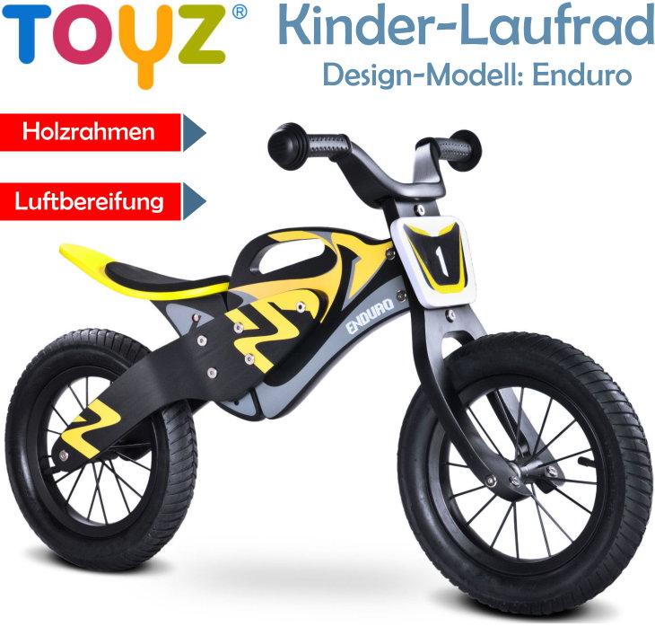 Toyz kinder Holz Laufrad Enduro