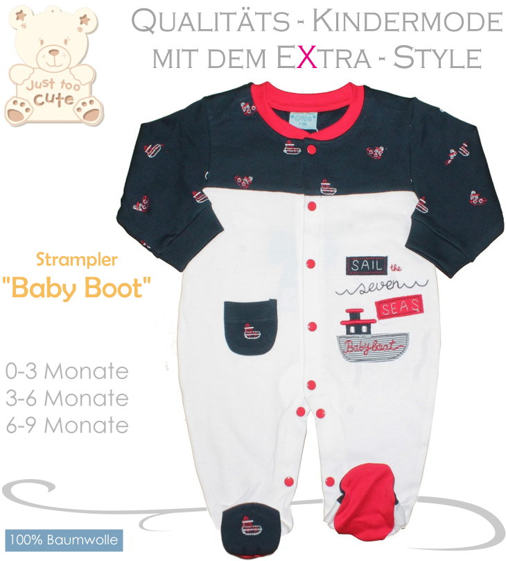 Just to cute Baby Strampler Overall Maritim Baby Boot